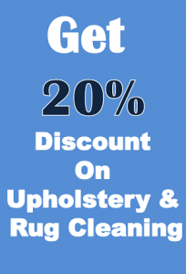 Discount On Upholstery & Rug Cleaning